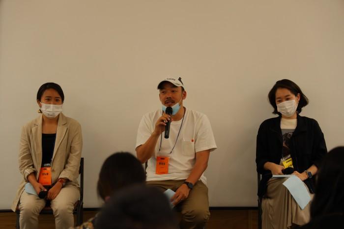 (왼쪽부터) 성노들 슬로워크 브랜드라이터, 임동준 이원코리아 대표이사, 선종헌 루트임팩트 Career Development Manager